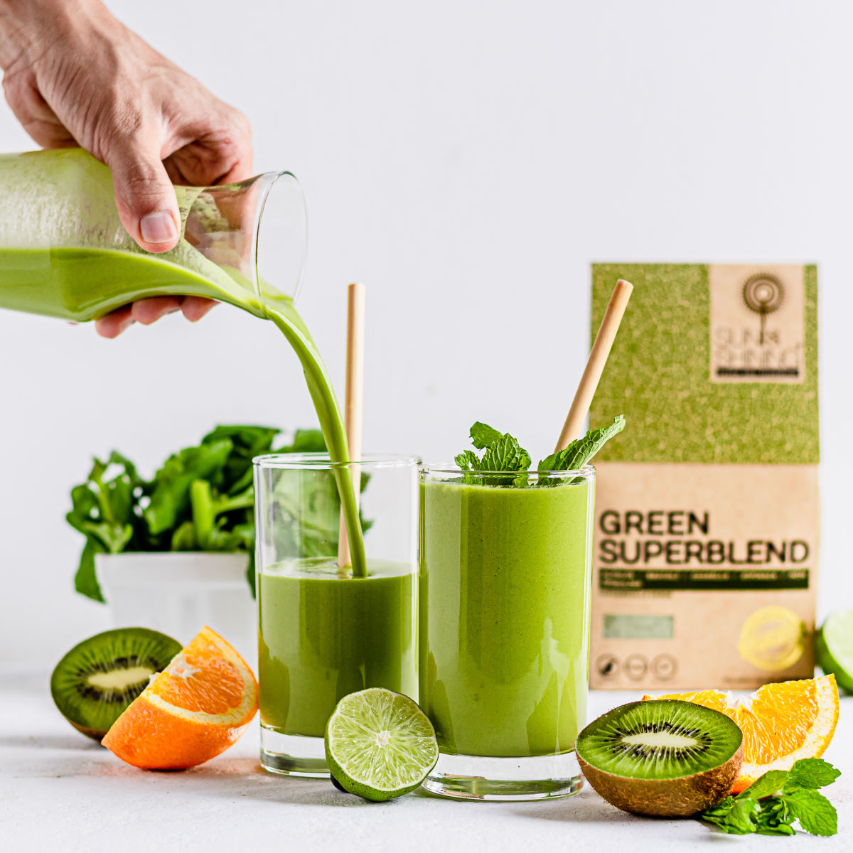 KIWI ORANGE GREEN SMOOTHIE